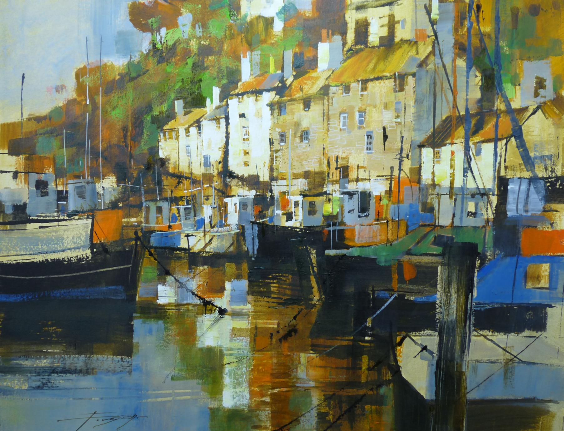 Colour and reflection, Polperro by Chris Forsey