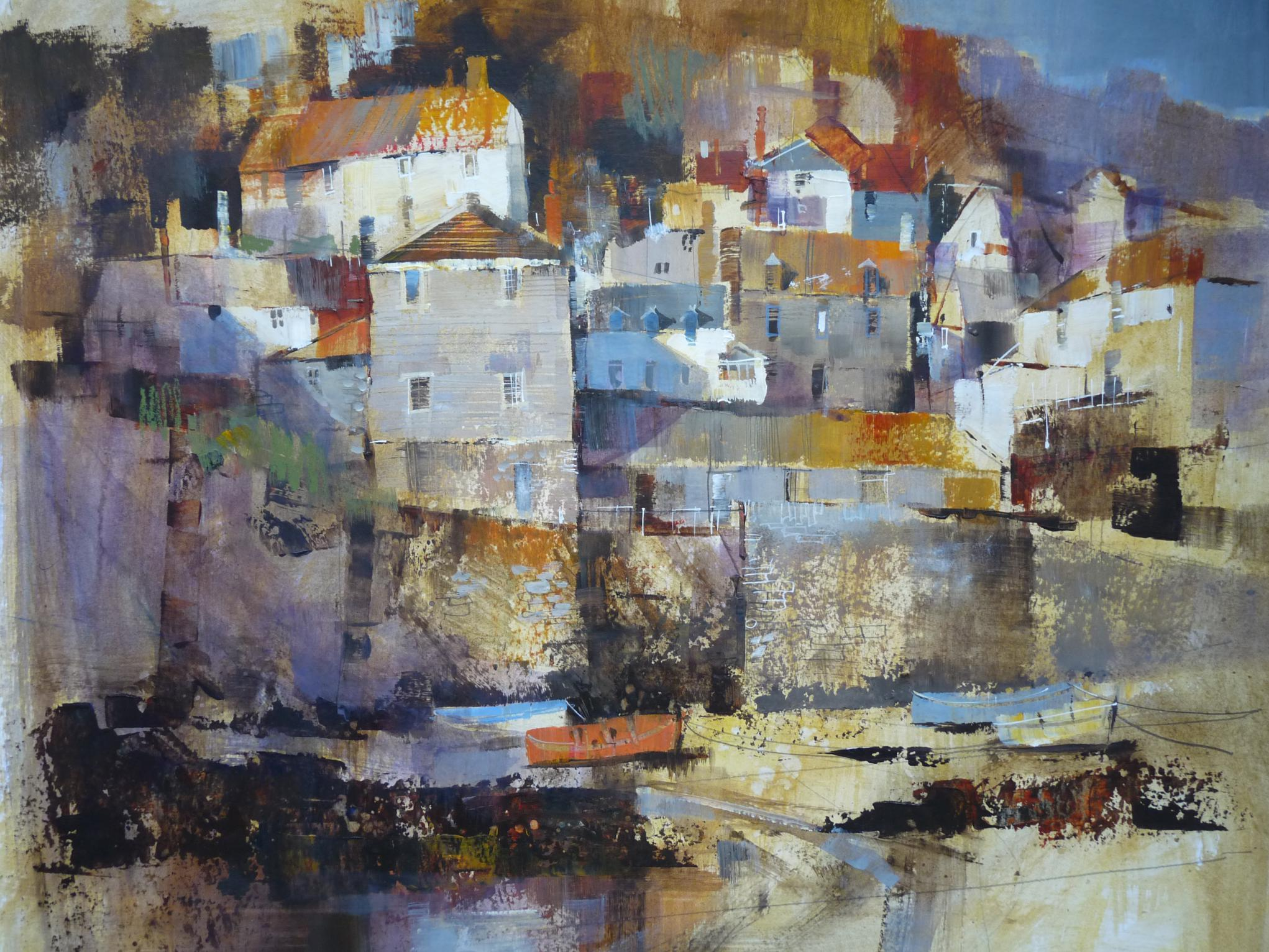 Cottage cluster, Port Isaac by Chris Forsey