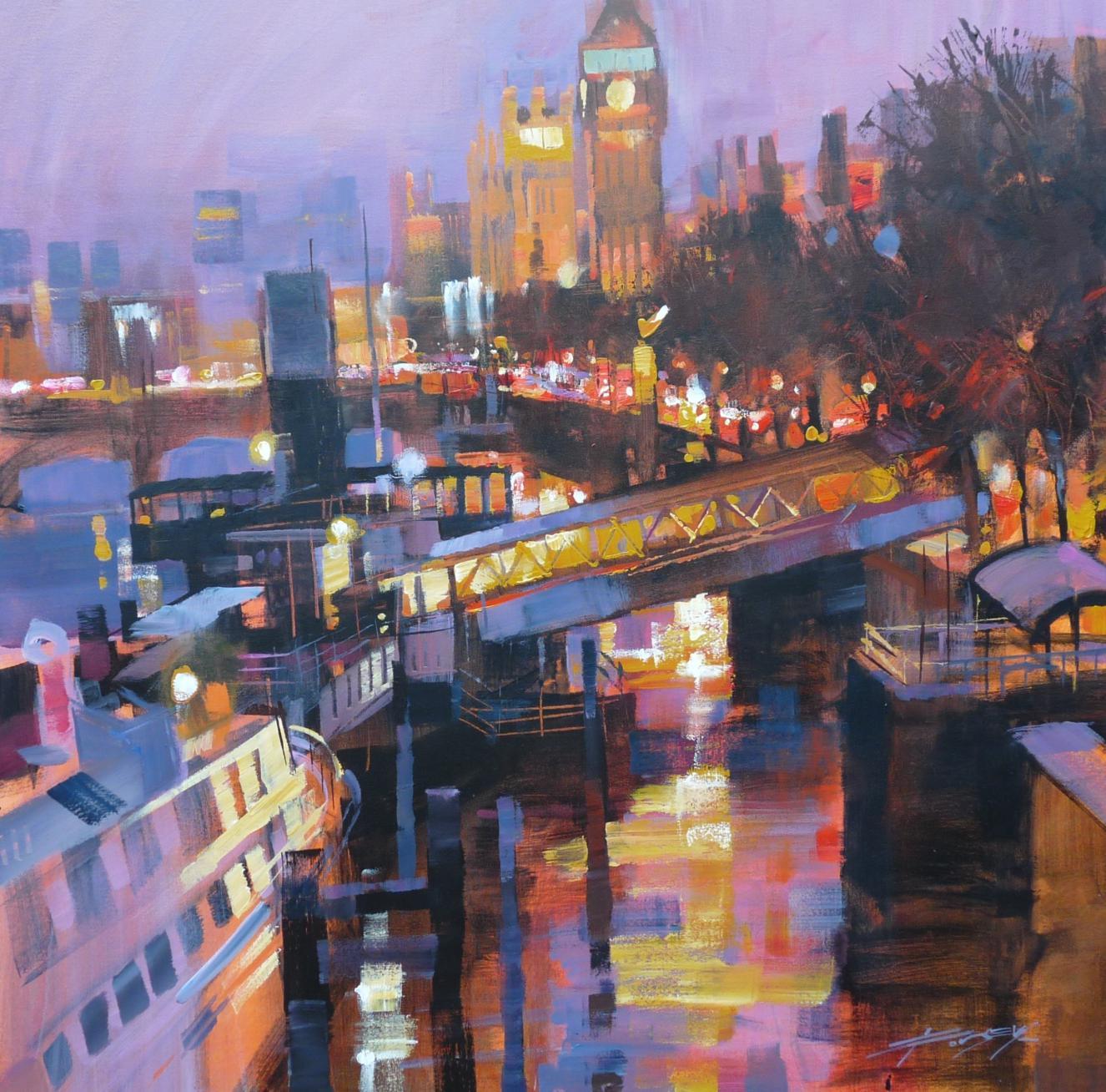 Evening approaches, The Embankment by Chris Forsey