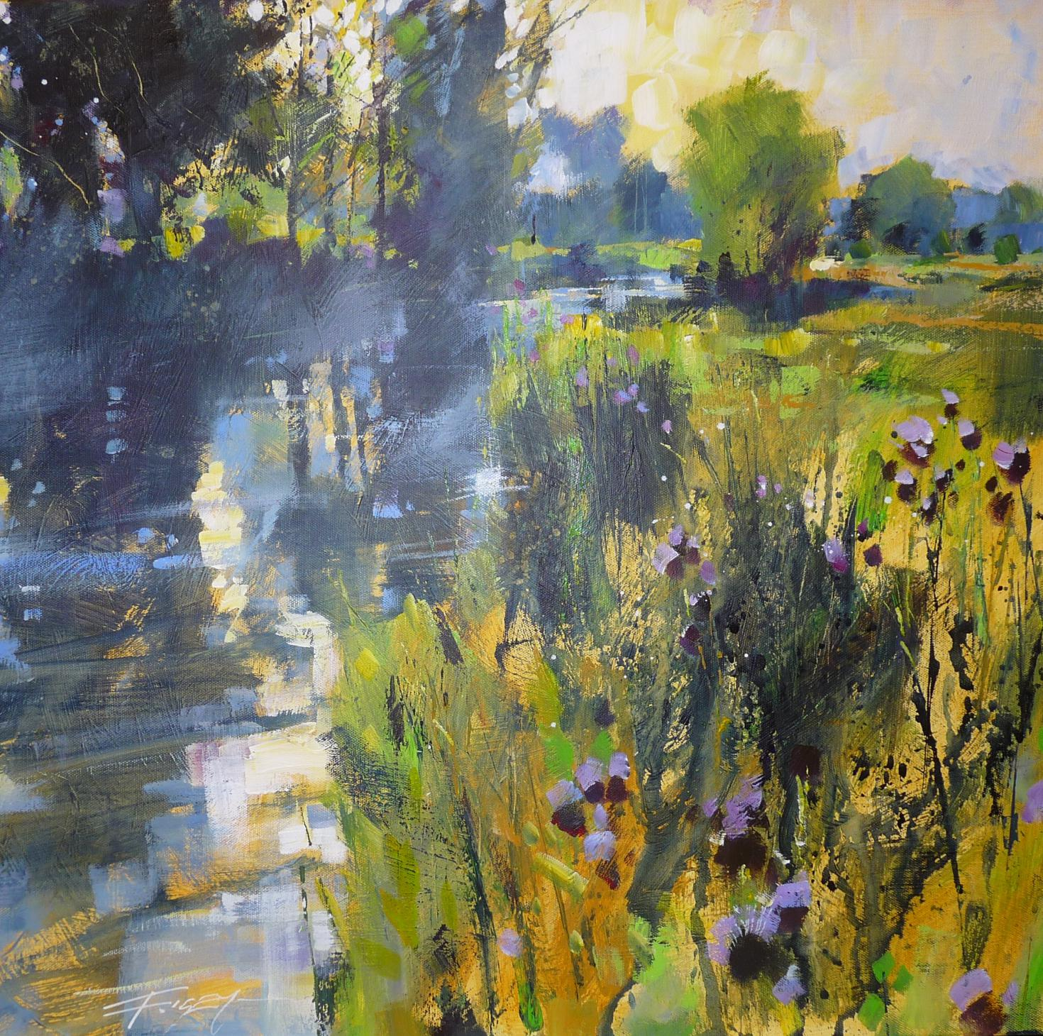 River and Summer mist by Chris Forsey