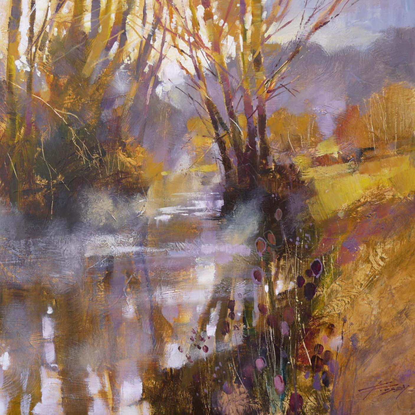 Sunlight and early mist, The Mole by Chris Forsey