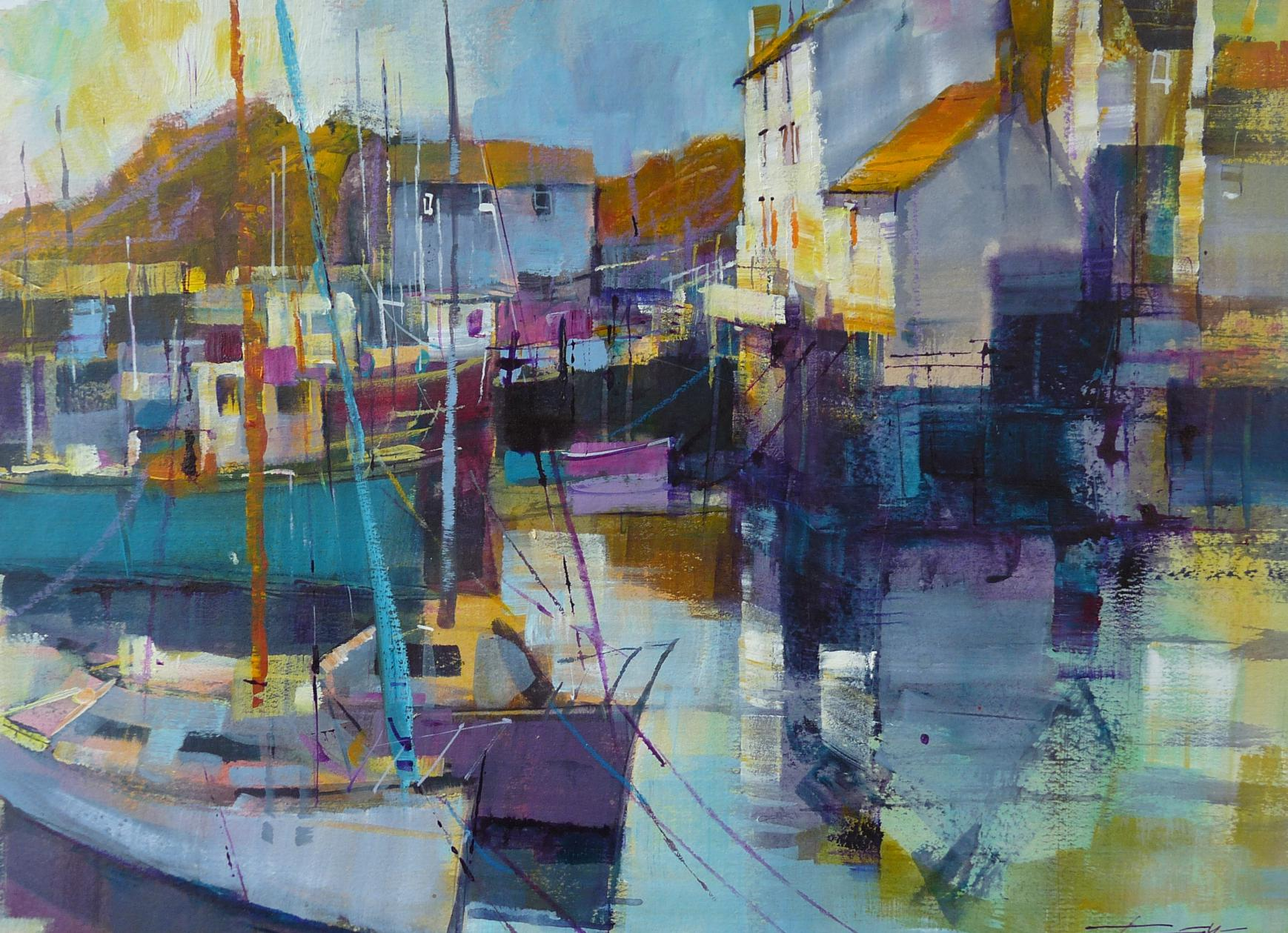 Sunshine and calm water, Polperro by Chris Forsey