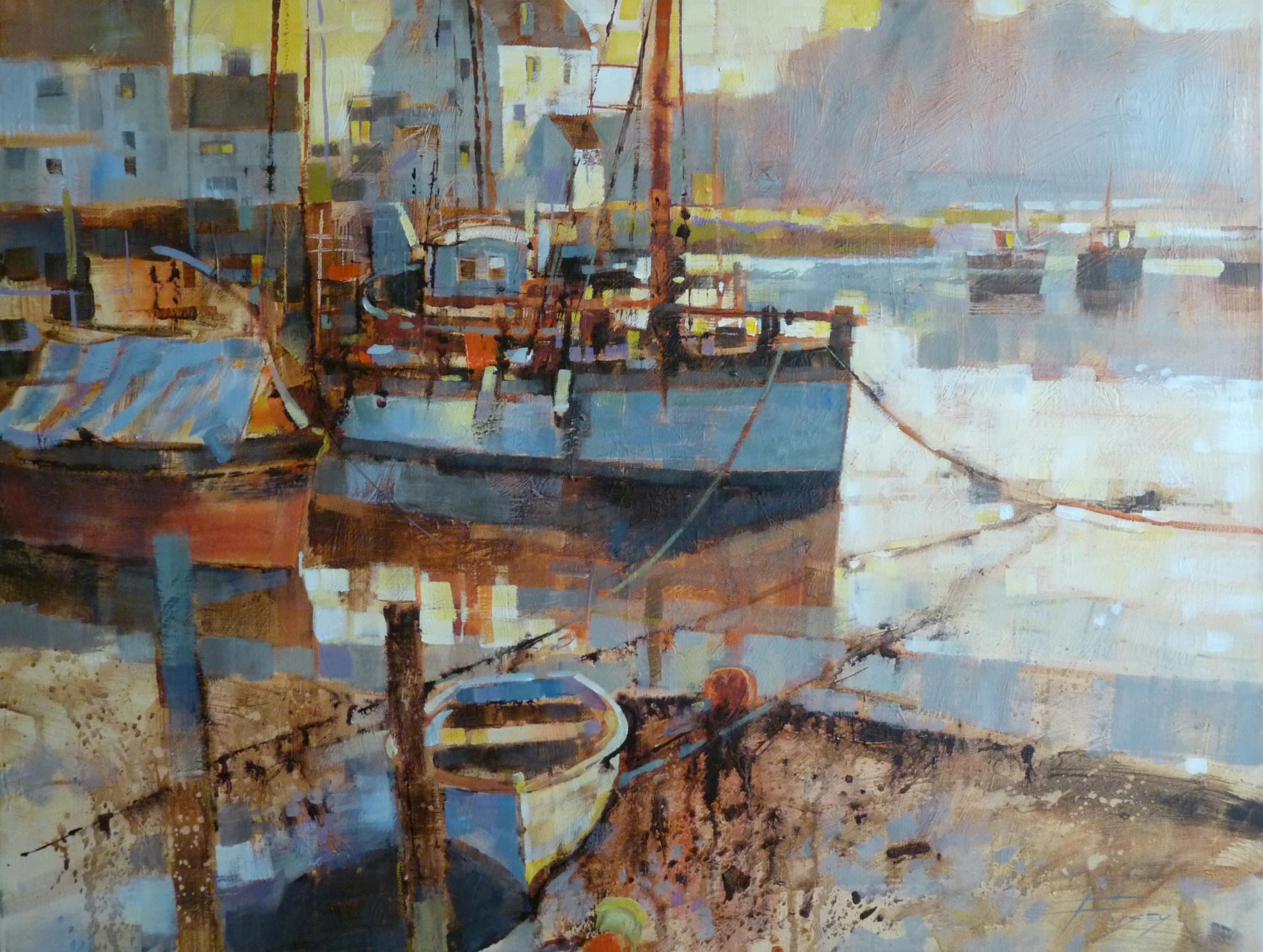 Woodbridge, mist in the morning by Chris Forsey