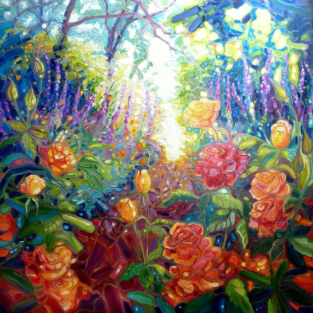 English Summer Garden by Gill Bustamante