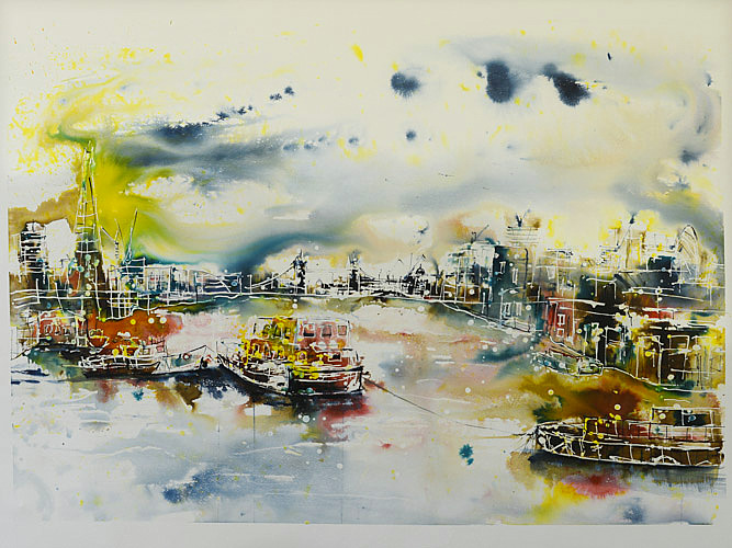 Tugs on the Thames by Rachael Dalzell