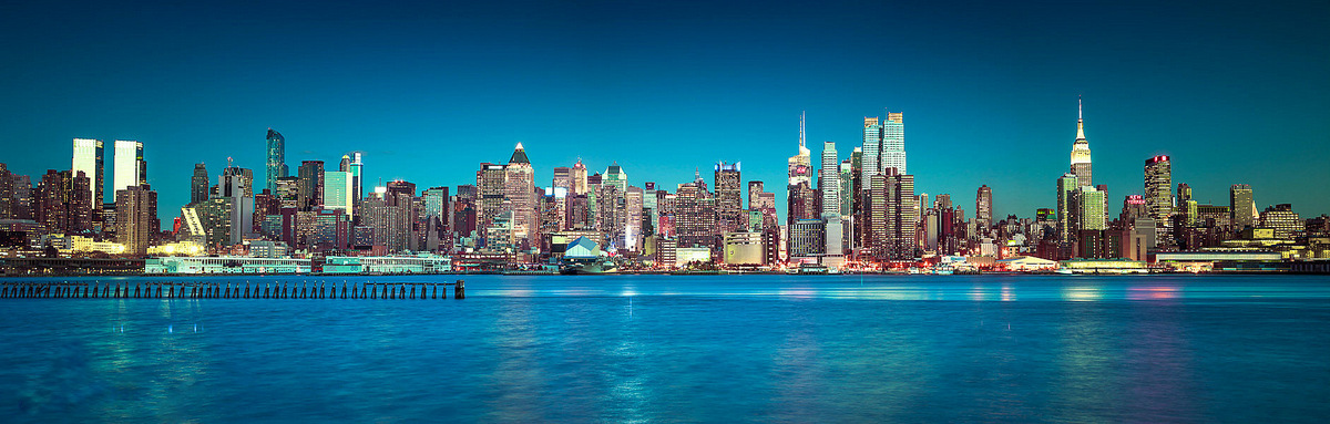 Blue Skies - New York  by Assaf Frank