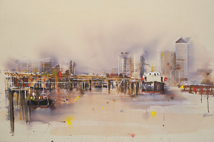 Traders on the Thames  by Rachael Dalzell