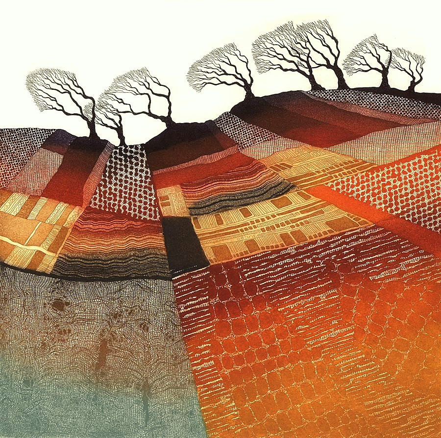 Windswept Trees - SOLD OUT by Rebecca Vincent