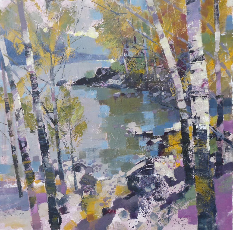 Birch in Spring by Chris Forsey