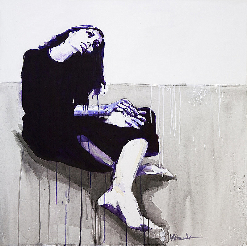Sitting Girl  by Hannah Adamaszek