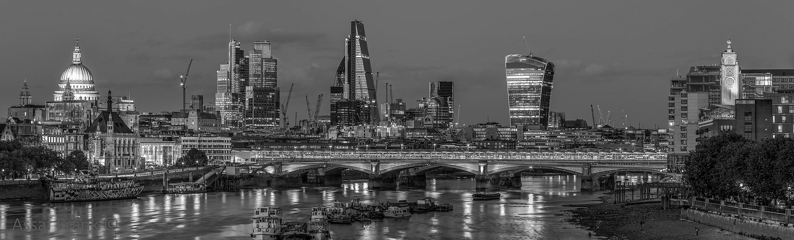 Evening view of Blackfriars  by Assaf Frank