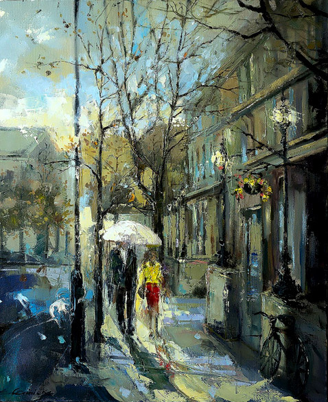 Evening Walk in Notting Hill Gate by Ewa Czarniecka