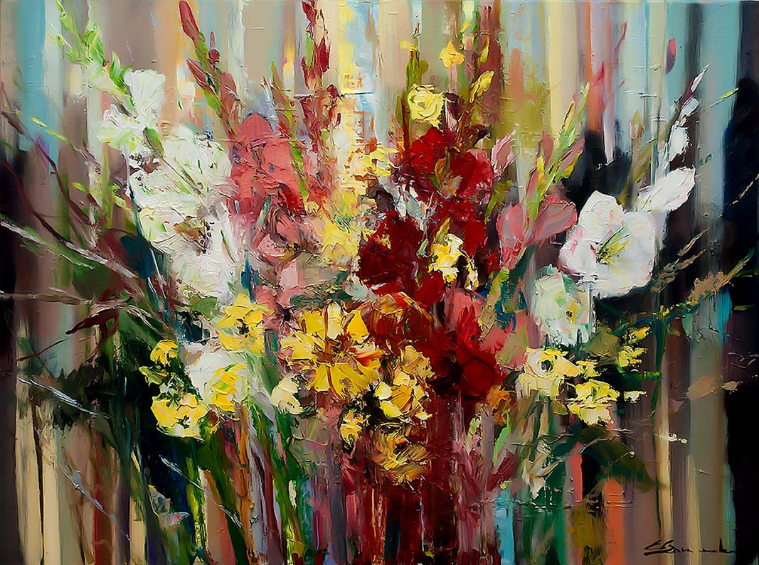 Gladiolus Bouquet by Ewa Czarniecka