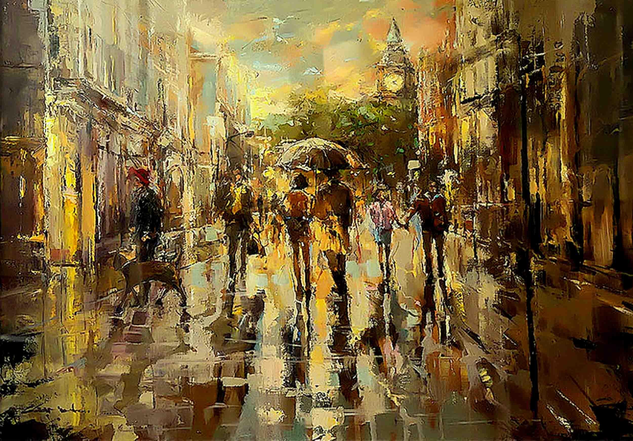 London Rain by Ewa Czarniecka
