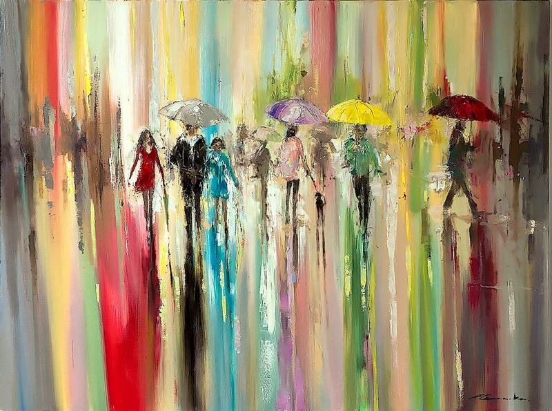 Rainbow rain by Ewa Czarniecka