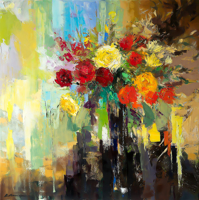 Roses in Bloom by Ewa Czarniecka