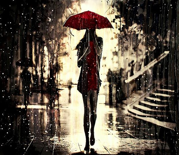 Walking in the Rain by Ewa Czarniecka