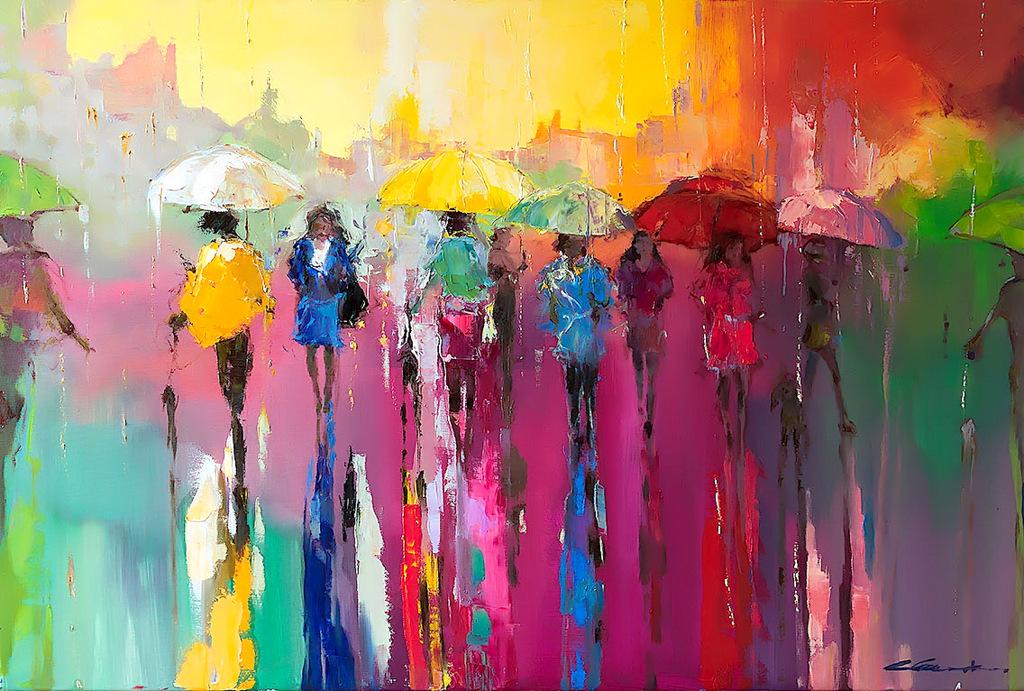Walking with Rainbow by Ewa Czarniecka