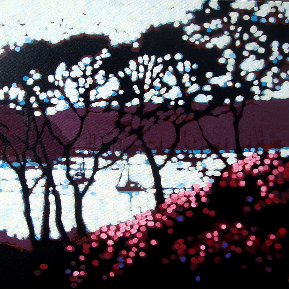 Rooks & Rhododendrons by Gordon Hunt