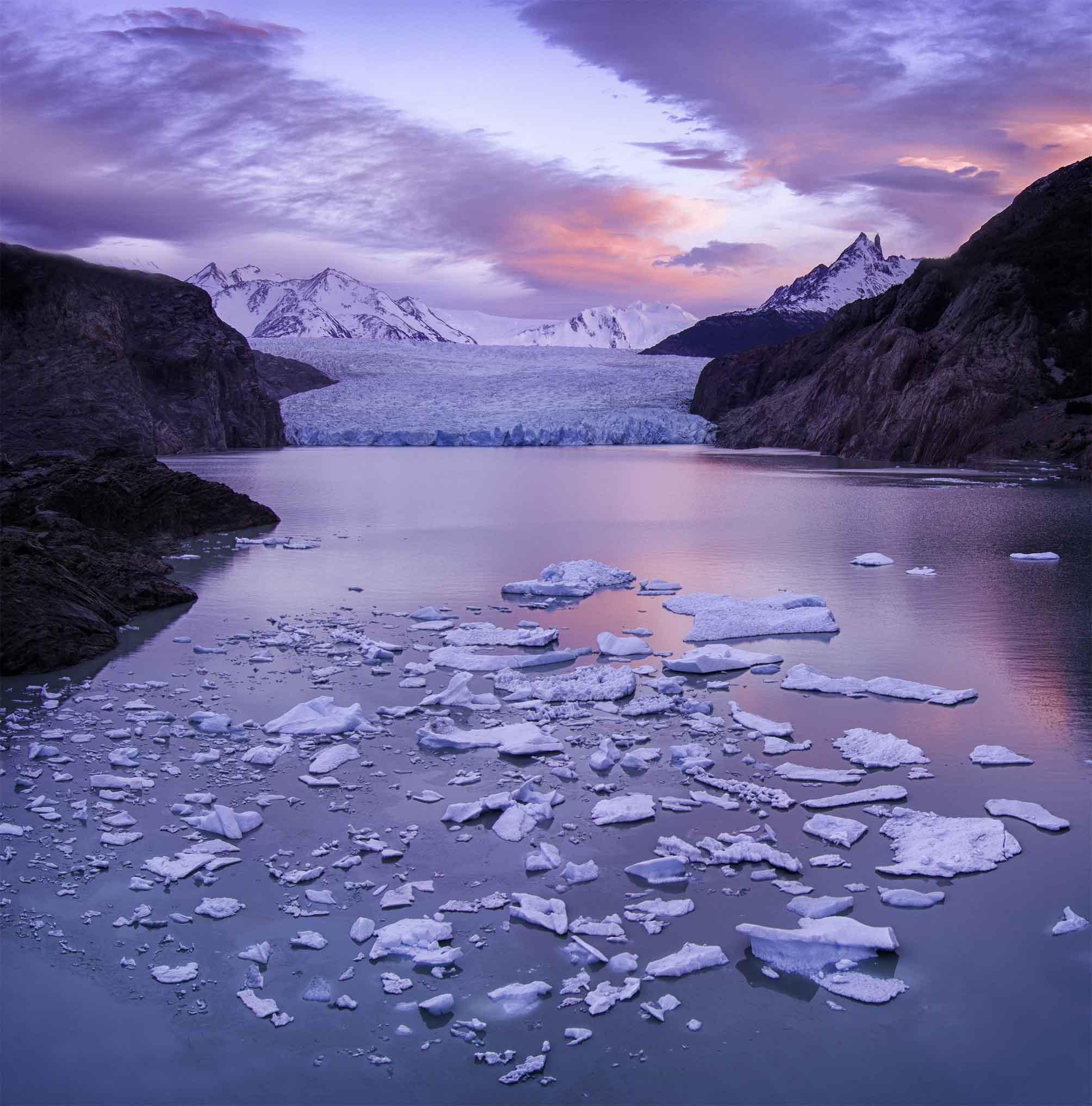 Grey Lake, Chile by Ignacio Palacios