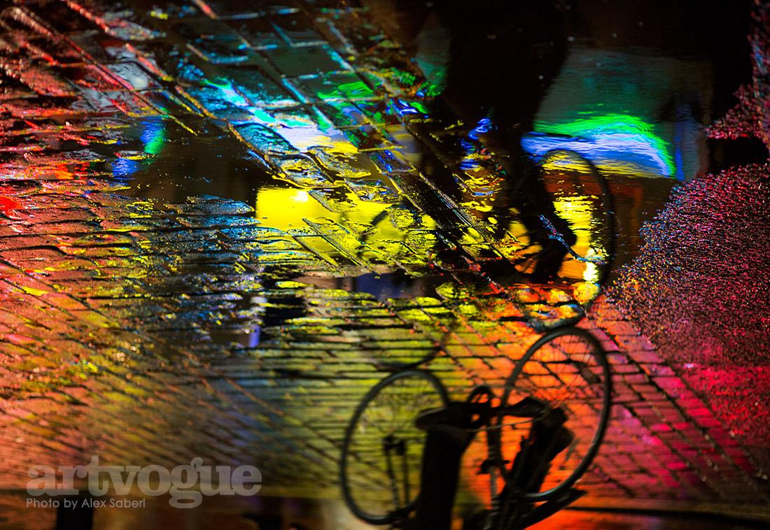 Cycling Sohos rainbows by Alex Saberi